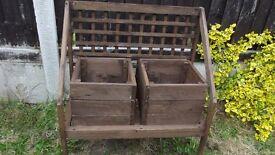 2 raised planters with lattice back
