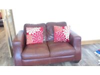 2 x Two Seater Sofas with Free TV unit