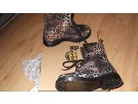DR MARTENS Leopard Print Women's Boots (1490) - UK size 5