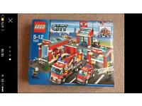 Boxed Lego city set 7945 fire station