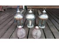 Garden lanterns and pots