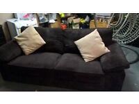brown sofa really comfortable, no marks, smoke free home, selling as no longer needed