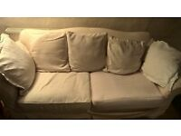 Large cream sofa - Extra covers included free