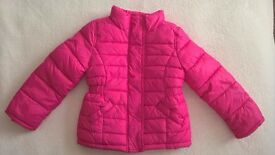 H&M Pink padded jacket age 3-4yrs 104cm - thick fleecy lining
