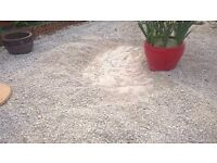 White garden/stones/chippings ideal for paths,drives-decorative design around shrubs,tree bagged up