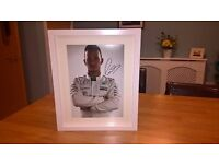 Hand Signed 12 x 8 Photo of Lewis Hamilton - Autograph with COA