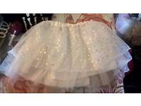 white tutu fancy dress / halloween size 8