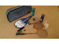 Racquets and Bag
