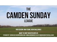 The Camden Sunday Football League are recruiting new teams! 11-a-side men's league! Join Today!