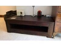 Darkwood TV Unit and Coffee Table