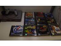 Playstation 1 original bundle 10n great games, 1 controller all wires 1 months warranty