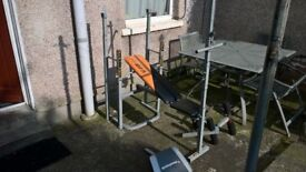 V-Fit Weights Bench With Lat,Squat,Preacher,Leg Extension