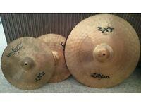 Zildjian ZXT Hi Hats and Ride cymbal