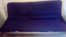 metatal frame sofa bed