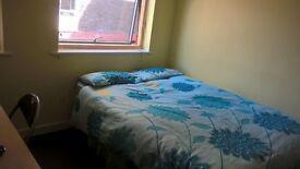 Sumptuous sizeable room with fridge freezer TV double wardrobe and laminated flooring