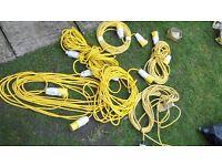 5no 110 volt extension leads