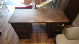 Antique solid oak desk