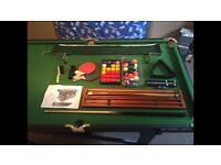 Riley Rolling Lay Flat 6' Snooker Table & Table Tennis