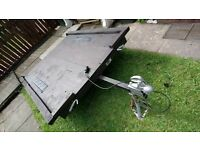 WELL MAINTAINED CONWAY TRAILER SUITABLE FOR QUAD, GARDEN MACHINERY LOAD AREA ROUGHLY 6FT X 5FT