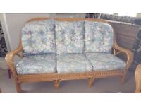 3 seater and 2 arm chair conservatory furniture