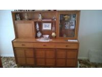 Nathan Solid Mahogany Display Unit, Cupboard Unit, Drawers and Cocktail Cabinet