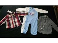 BNWT baby shirts and warm playsuit 12-18 months
