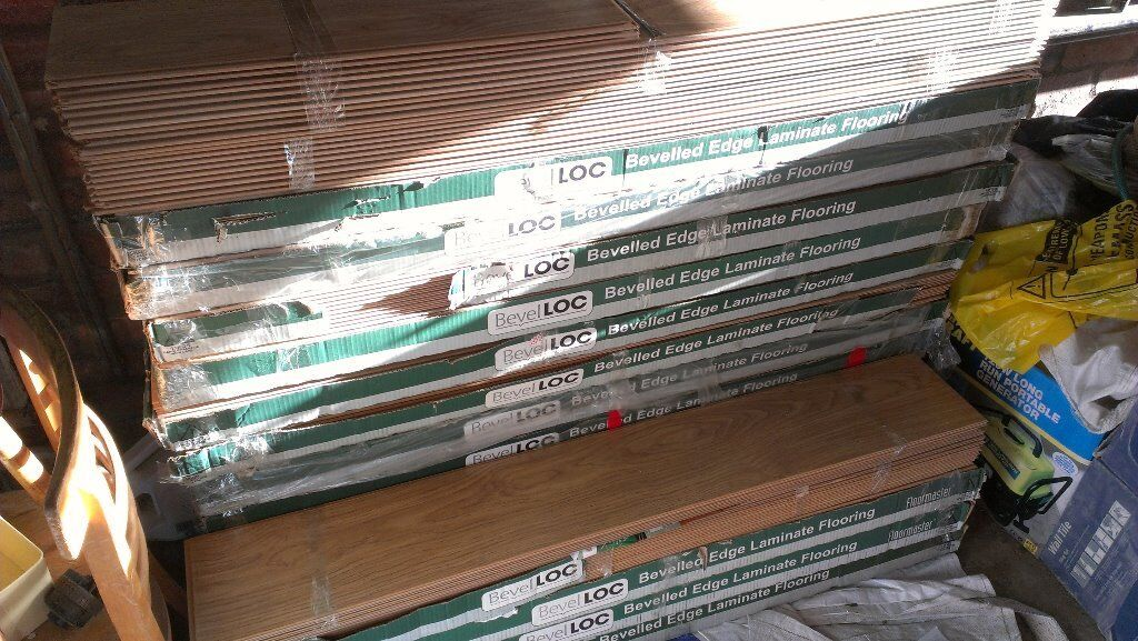 40 Sqm 8mm V Groove Quality Bevelloc Laminate Flooring 18 5 Packs