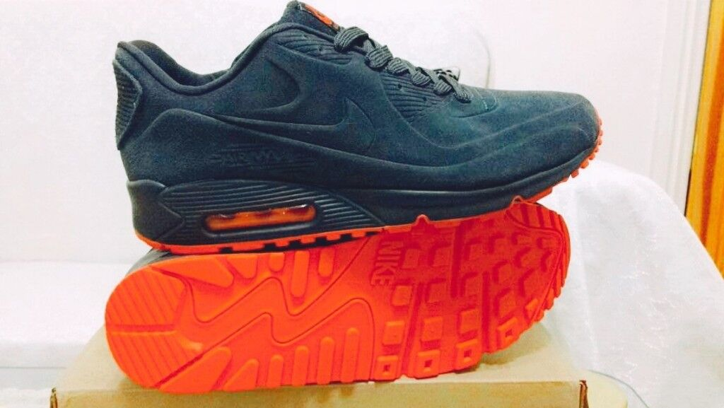 nike air max 90 hyperfuse grey and red suede all sizes inc delivery paypal xx | in Hockley, West Midlands | Gumtree