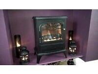 Stove effect living flame electric fire