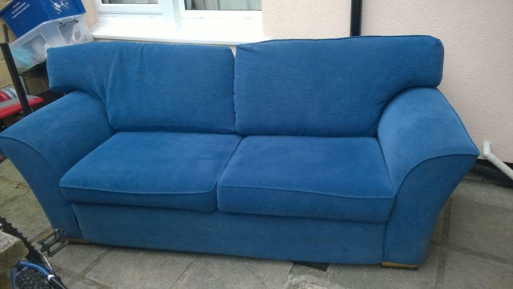 3 4 Seater Blue Sofa In Plymouth Devon Gumtree