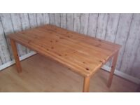 Rustic Pine Table and 2 chairs for sale