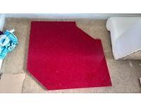 Granite worktop, red sparkle, ex-display kitchen, 3 Pieces