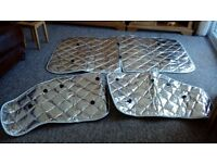 Silver reflective windsrceen for motorhome