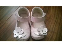 occasion ( wedding, christening) leather baby girl shoes size 4 (like new)