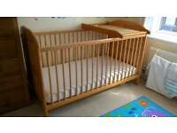 Cot bed and Changer by East Coast