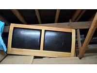 Double bed Luxury leather headboard