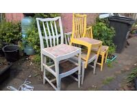shabby chic vintage chairs for up cycle project