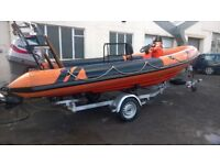 Rib Boat Osprey Viper 5.8m Mariner Outboard Trailer Rigid Inflatable Dive Boat
