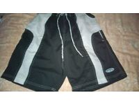 Mens shorts - Diadora Unused size S Black / Light grey shorts length 19 inch inside leg 8 inch