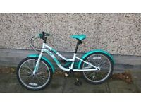 "Apollo Oceana Girls Hybrid Bike - 20"" - reasonable used condition"