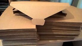 Brown cardboard posting boxes Large Letter postage