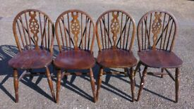 4 Oak spindleback farmhouse style chairs