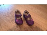 Clarks baby girl first shoes (size 4 E) in good condition £4