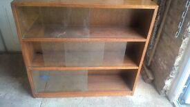 Glass Fronted Mahogany 3 shelf cabinet x 2