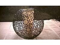 Metal/cloth Spherical Retro Lampshade