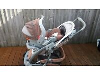 Graco travel system,brown and cream