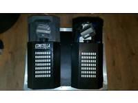 Pair of constella DMX barrel scanning lights