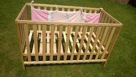 Cot bed (crib) with mattress, Baby bouncer, Moses basket, baby bath seat, Baby carrier, car seat