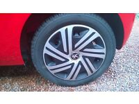 """Peugeot 108/Citroen C1/Toyota Aygo 15"""" wheels with winter tyres. Excellent condition."""