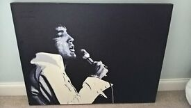 large elvis wall art print on canvas